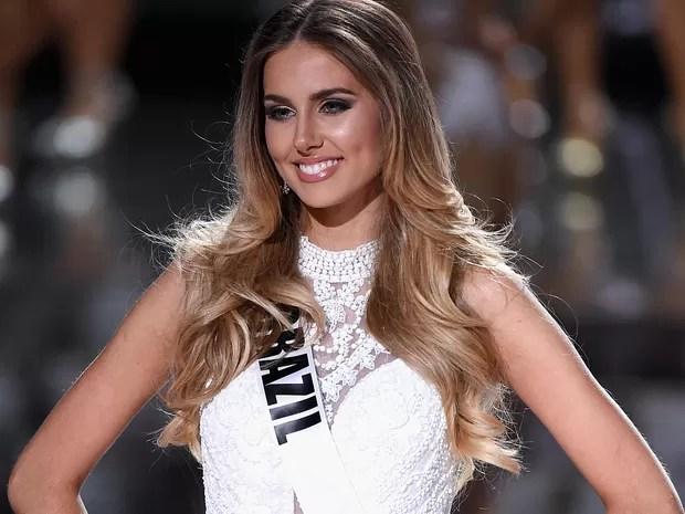 A candidata Marthina Brandt durante o Miss Universo em Las Vegas (Foto: Ethan Miller/GETTY IMAGES NORTH AMERICA/AFP)