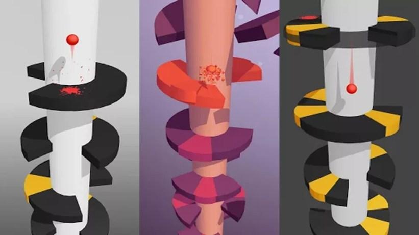 Helix Jump é um jogo extremamente simples mas profundamente viciante — Foto: Reprodução/Google Play