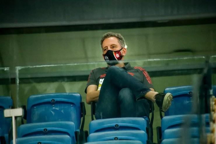 Rodolfo Landim, presidente do Flamengo — Foto: Alexandre Lago