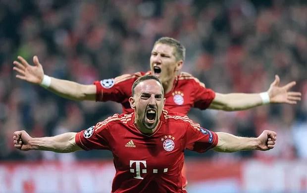 comemoração Ribery - Bayern e Real (Foto: Ag. AFP)