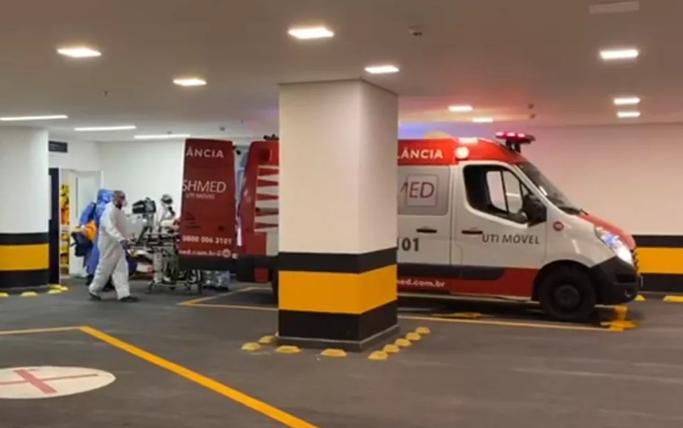 Maguito Vilela é transferido de Goiânia para hospital de São Paulo — Foto: Reprodução/TV Anhanguera
