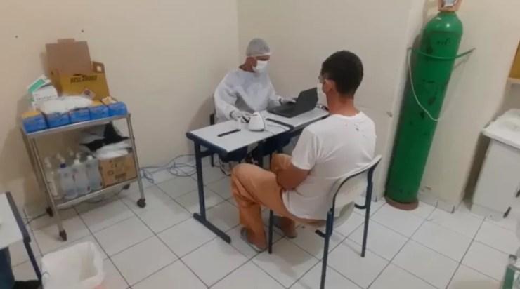 Ao menos 719 presos da Penitenciária II, em Sorocaba (SP), tiveram resultados positivos para Covid-19 — Foto: Secretaria da Administração Penitenciária/SAP