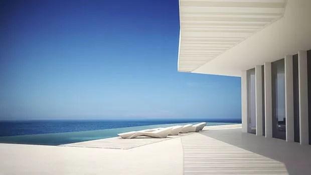 Casa com vista para o mar na Espanha (Foto: Ramón Esteve Estudio / divulga)