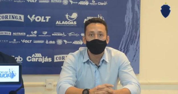 Italo Rodrigues, executivo de futebol do CSA — Foto: Ascom CSA