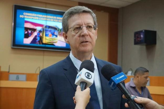 O vereador Dr. Brito é apontado pelo MPF como o principal beneficiário do esquema fraudulento (Foto: Câmara Municipal de Foz do Iguaçu/Divulgação)