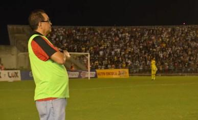 Francisco Diá quer que o adversário seja o Santa Cruz — Foto: Cadu Vieira / GloboEsporte.com/pb