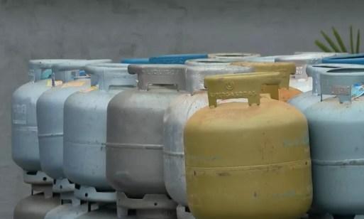 Botijão de gás  — Foto: Reprodução/JN