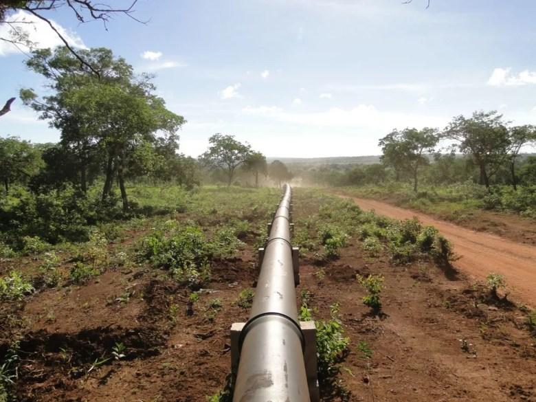 Água percorre 56 km pelo sistema, do Pacuí a Montes Claros — Foto: Wellington Paranhos/Arquivo Pessoal