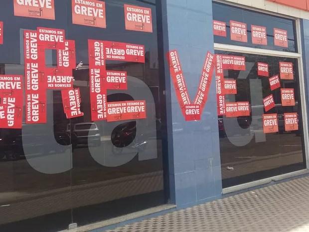 greve, bancários, agências, Macapá, Amapá (Foto: Jéssica Alves/G1)