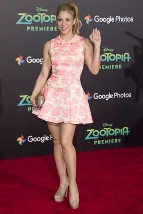 Shakira em première em Los Angeles, nos Estados Unidos (Foto: Valerie Macon/ AFP)