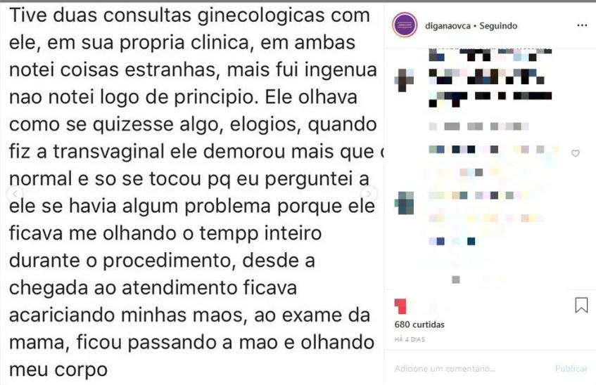 Denúncias começaram a surgir na última sexta-feira (10), depois que um perfil foi criado no Instagram. — Foto: Reprodução