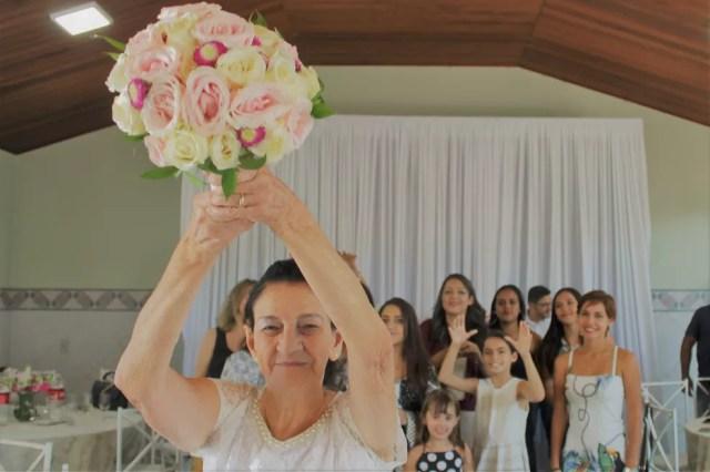 Casamento dos idosos reuniu familiares em Sorocaba — Foto: Arquivo pessoal/Thais Corrêa