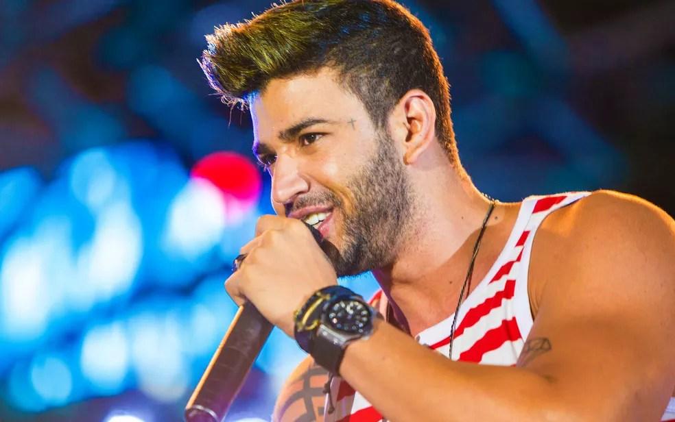 Gusttavo Lima faz show na Vila Forró, em Campina Grande, no dia 23 de junho (Foto: Gustavo H./Divulgação)
