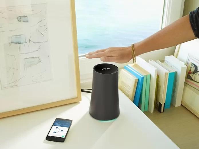 OnHub da Asus terá recurso Wave Control, que permite controle por gestos da quantidade de banda de dispositivos na rede (Foto: Divulgação/Google)
