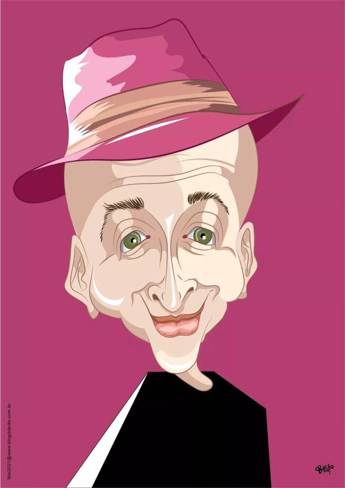 Brito faz homenagem a Paulo Gustavo — Foto: Brito/Associação dos Cartunistas do Brasil