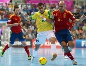 gabriel fernandao brasil x espanha futsal (Foto: Getty Images)