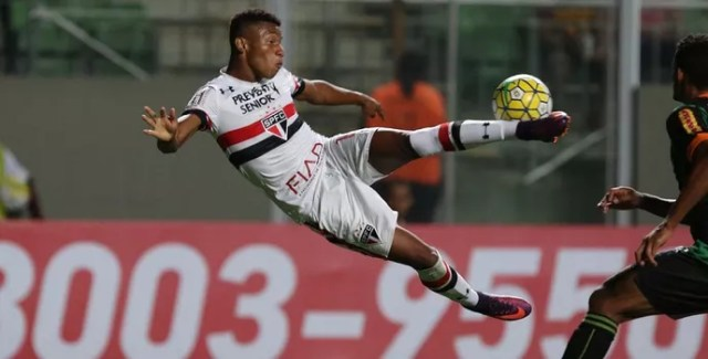 América-MG x São Paulo David Neres (Foto: Rubens Chiri/saopaulofc.net)