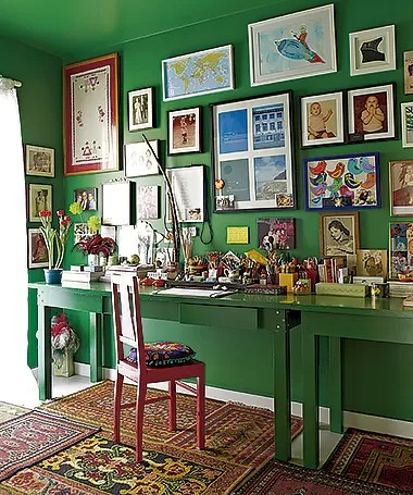 Verde total: a mesma cor pode ser usada na parede e nos móveis (Foto: Victor Affaro/ Editora Globo)