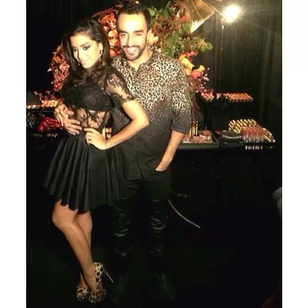 Anitta e Yan Acioli em festa em São Paulo (Foto: Instagram/ Reprodução)