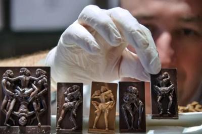 Sebastien Pawly fez os chocolates para o Dia dos Namorados (Foto: Sebastien Bozon/AFP)