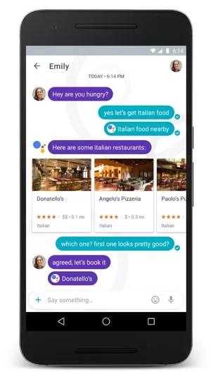 Tela de bate-papo do Google Allo, novo app de mensagens (Foto: Divulgação/Google)