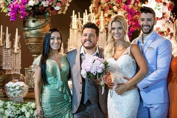 Casamento Gusttavo Lima e Andressa Suita - Bruno e Marianne foram um dos padrinhos convidados (Foto: Rosimary Martins/ Divulgação)