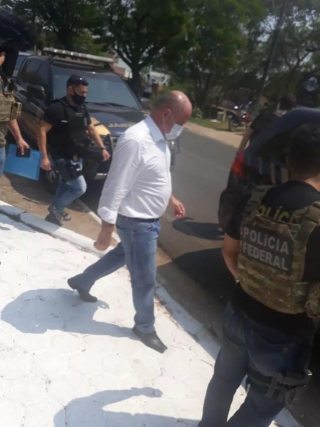 Prefeito Marcito Pinto é preso pela PF em Ji-Paraná — Foto: Reprodução/WhatsApp
