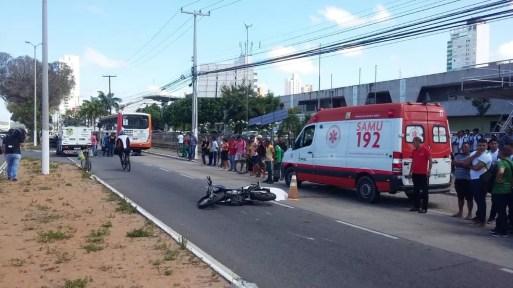 Mulher que morreu estava em uma motocicleta — Foto: Sérgio Henrique Santos/Inter TV Cabugi