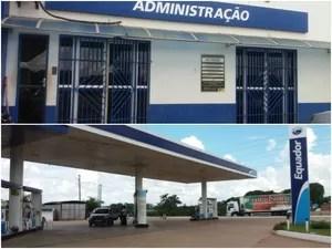 Posto de combustíveis em Rio Branco foi alvo de assaltos duas vezes em 13h  (Foto: Iryá Rodrigues/G1)