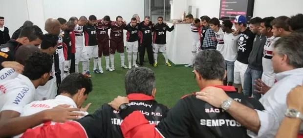 Ney Franco São Paulo grupo jogadores (Foto: Rubens Chiri / Site oficial do São Paulo FC)