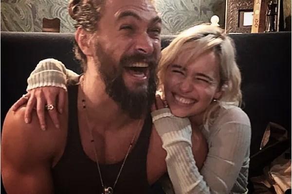 Jason Momoa and Emilia Clarke (Photo: Instagram)