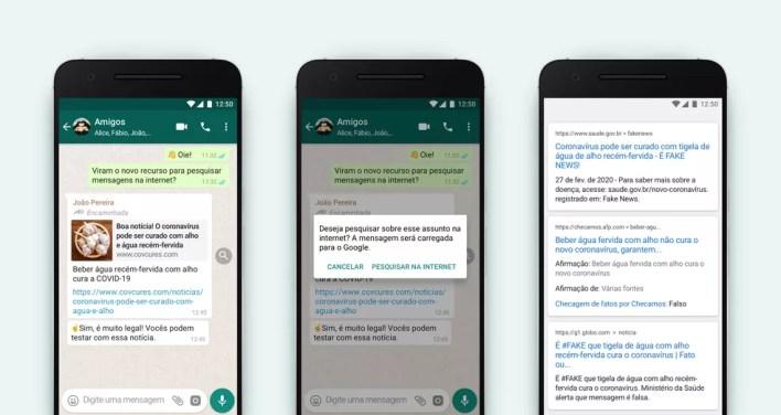 Ferramenta de busca de mensagens está em testes no Brasil — Foto: Divulgação/WhatsApp