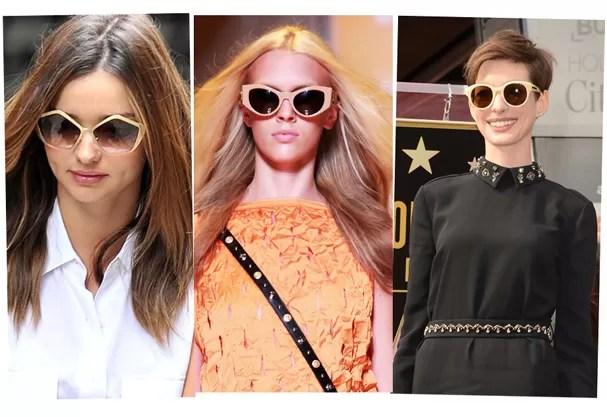 fc8a06362 Miranda Kerr e Anne Hathaway são adeptas do nude, tendência desfilada pela  Versace em seu