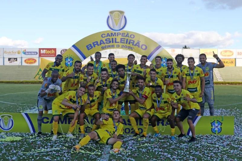 Mirassol, campeão da Série D do Campeonato Brasileiro — Foto: Célio Messias/CBF