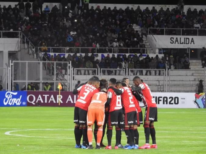 São Paulo perdeu do Binacional na estreia da Libertadores — Foto: Eduardo Rodrigues