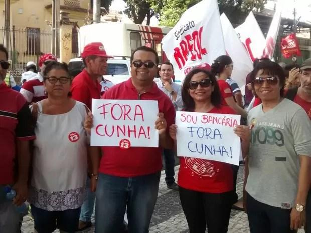 Alex Citó defende que Cunha não pode permanecer no cargo de presidente da Câmara (Foto: Elias Bruno/G1)