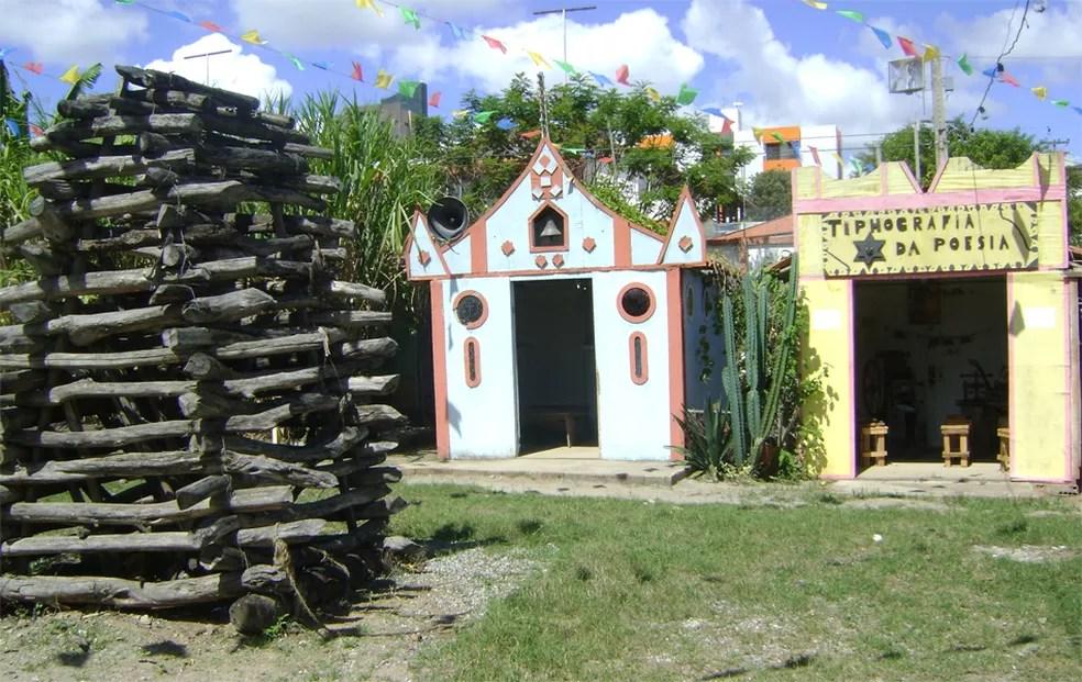 Sítio São João reproduz como eram as cidades do Sertão Nordestino na década de 1940 (Foto: Rafael Melo/G1/Arquivo)
