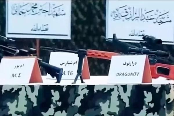 Weapons displayed at Taliban parade (Photo: reproduction)