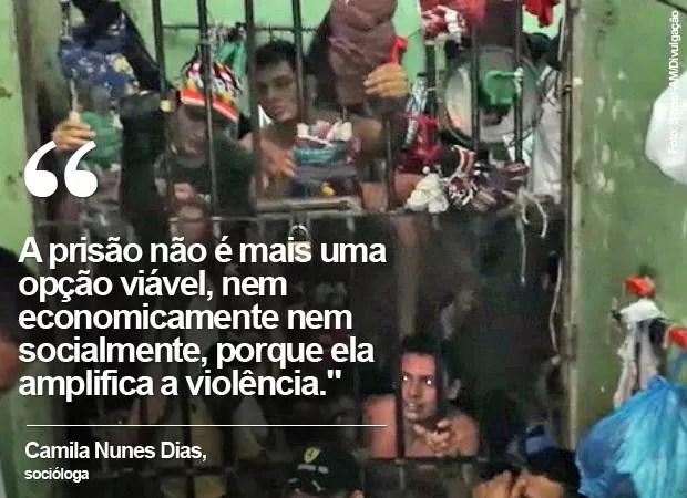 Em fevereiro de 2015, foto mostra presos amontoados em unidade no Amazonas (Foto: Sinpol-AM/Divulgação)