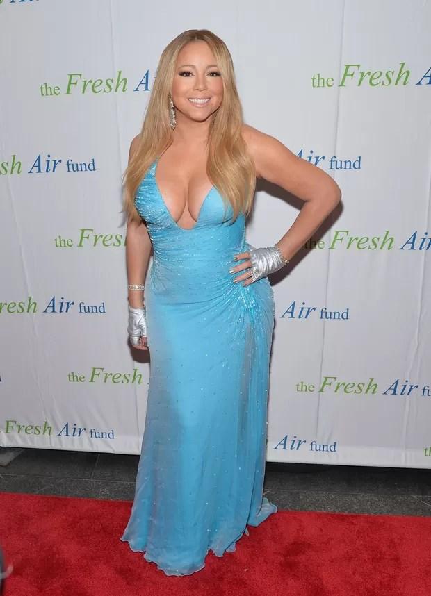 Mariah Carey em evento em Nova York, nos Estados Unidos (Foto: Mike Coppola/ Getty Images/ AFP)