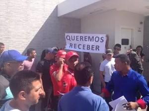 manifestação; vigilantes; macapá (Foto: Abinoan Santiago/G1)