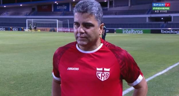 Marcelo Cabo comentou o sabor amargo da eliminação — Foto: Reprodução Sportv