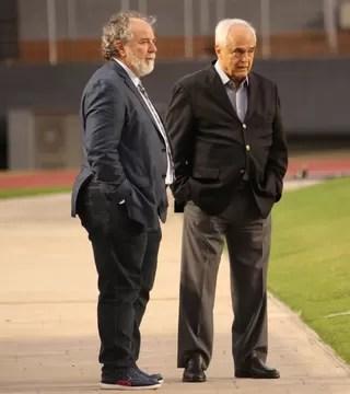 Luiz Cunha Carlos Augusto de Barros e Silva Leco São Paulo (Foto: Afonso Pastore/saopaulofc.net)
