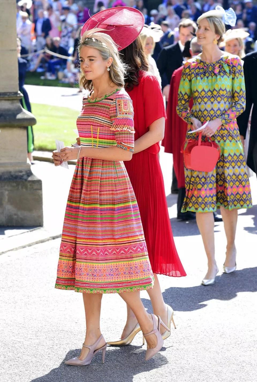 Cressida Bonas, ex-namorada de Harry, chega ao casamento (Foto: AP )