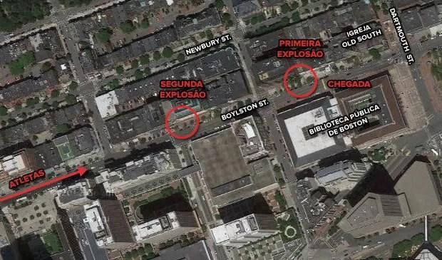 mapa explosão boston 2 (Foto: arte esporte)