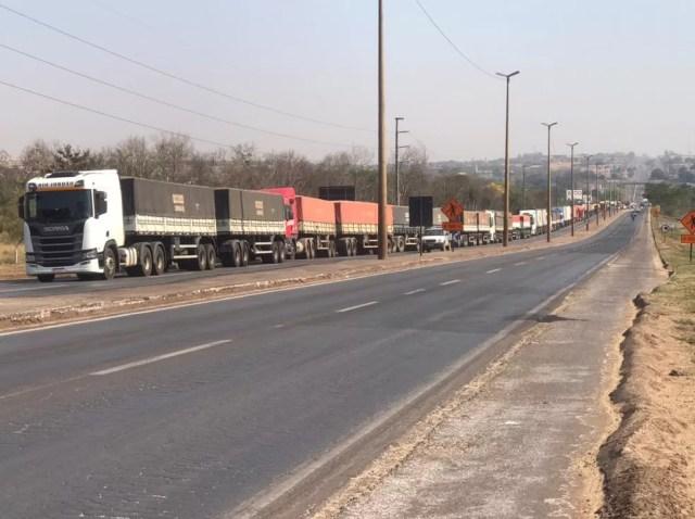 Bloqueios seguem em rodovias de MT nesta quarta-feira (8) — Foto: Divulgação