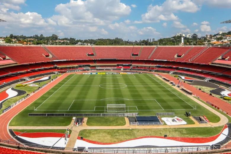 Estádio do Morumbi, palco do jogo de domingo — Foto: Ricardo Moreira/BP Filmes