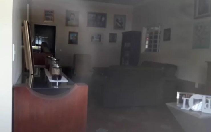 Sala onde aconteciam atendimentos na Casa Dom Inácio de Loyola, em Abadiânia — Foto: Alessandro Vieira/TV Anhanguera