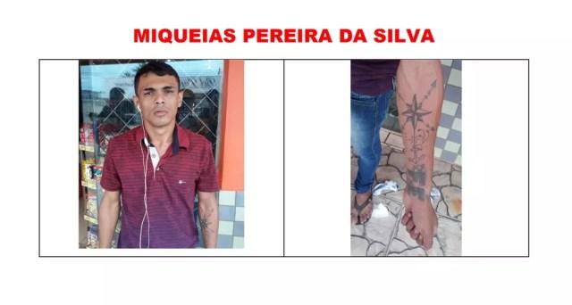 Miqueias Pereira da Silva é procurado após fugir de presídio — Foto: Reprodução