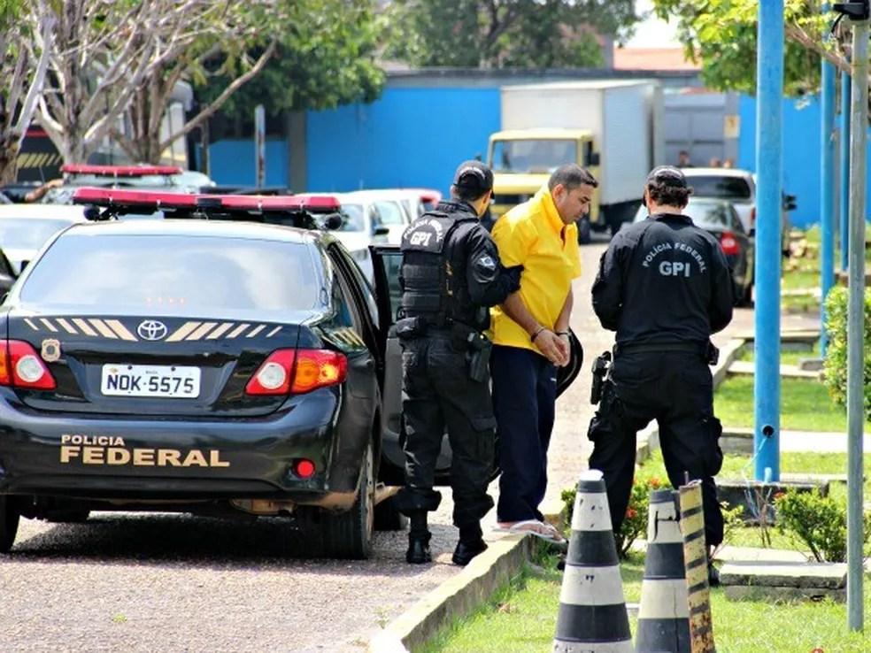 Um dos supostos líderes da FDN foi preso pela PF em 2015 (Foto: Adneison Severiano/ G1 AM)